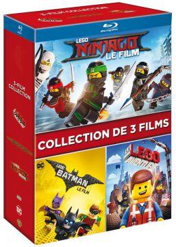 Les films Lego - L'intégrale 3 films : Lego Batman, le film + La Grande Aventure Lego + Lego Ninjago, le film