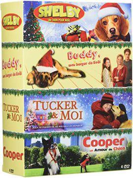 Chien n° 3 - Coffret 4 films : Tucker & moi + Shelby + Buddy, mon berger de Noël + Cooper, un amour de chien !