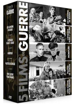 Guerre - Coffret 5 films : Les Canons de Batasi + L'Attaque dura sept jours + Morituri + Pilotes de chasse + Une cloche pour Adano