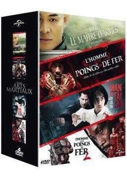4 films d'arts martiaux: Le maître d'armes + L'homme aux poings de fer + Man of Tai Chi + L'homme aux poings de fer 2