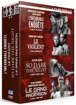 Films Noirs Vol. 3 : L'Inéxorable enquête + Le Violent + Nuit de terreur + Le Gang Anderson