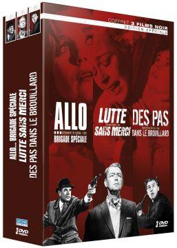 3 Films noirs : Allo... Brigade spéciale + Lutte sans merci + Des pas dans le brouillard