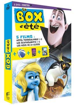 La Box d'été - 5 films: Hôtel Transylvanie 1 + 2 - Les Schtroumpfs 1 + 2 - Les rois de la glisse
